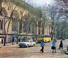 Одесса. Здание областной филармонии. Фото А.А. Подберезского в буклете «Театры Одессы». 1976 г.