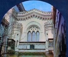 Одесса. Внутренний дворик филармонии. Фото А.А. Подберезского в буклете «Театры Одессы». 1976 г.