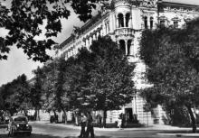 Одеса. Готель «Червоний». Фото з набору фотографій «Одеса». Ф-ка масового фотодруку тресту «Укрфото». 1957 р.