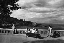 Одеса. Курорт «Аркадія». Фото з набору фотографій «Одеса». Ф-ка масового фотодруку тресту «Укрфото». 1957 р.