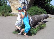 Одесса. Пушка у стены Карантина. Фото Аркадия Панасышина. 2005 г.