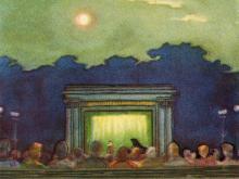 Летний театр «Горсад». Рисунок в буклете «Театры Одессы». 1963 г.