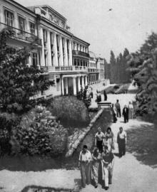 В санатории «Россия». Фото в буклете «Одесса, Аркадия». 1963 г.