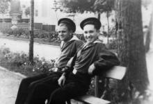 На Приморском бульваре. Одесса. 1949 г.