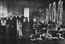 Лаборатория неорганической химии Одесского института зерна и муки им. И.В. Сталина. Фото в проспекте для поступающих. 1936 г.
