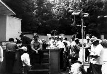 Сбор коллекционеров на танцплощадке «Огни маяка» в парке им. Т.Г. Шевченко. 1984 г.