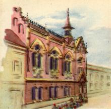 Театр кукол. Рисунок в буклете «Театры Одессы». 1963 г.
