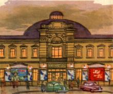 Цирк. Рисунок в буклете «Театры Одессы». 1963 г.
