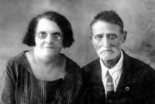 Моисей Самуилович Айзеншер с женой Эмилией