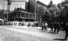 Строительство ресторана «Юбилейный» на углу улиц Дерибасовской и Карла Маркса. Одесса. 1966 г.