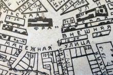 Место будущего сквера на плане города Одессы. 1926 г.