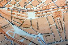 Место будущего сквера на плане города Одессы. 1916 г.