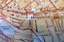 Место будущего сквера на плане Одессы. 1915 г.
