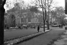 Ул. Пушкинская, филармония, 1985 г.