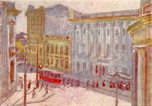 Одеса. Вул. ім. Леніна. Худ. О. Шовкуненко. Поштова картка. 1935 р.
