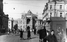 Одесса. Вид на театр оперы и балета с ул. Ленина. 1960-е гг.