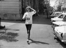 Одесса. Возле дома № 13 по ул. Ланжероновской. Фото М.Н. Кузнецовой. Июнь, 1991 г.