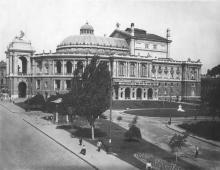 Одесса. Вид на театр им. Луначарского. Конец 1920-х гг.
