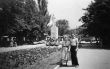 Одесса. На аллее, ведущей с площади им. Октябрьской революции на ул. Свердлова. 1957 г.