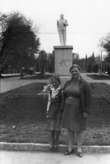 Одесса. Парк Ильича. Памятник Ленину на главной аллее. 1970-е гг.