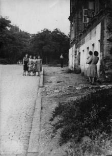 Одесса. Сквер им. Мечникова со стороны Коммунального спуска. 1950-е гг.