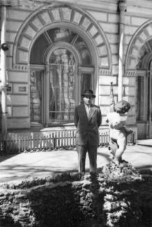 Одесса. Во внутреннем дворике гостиницы «Одесса». 1950-е гг.