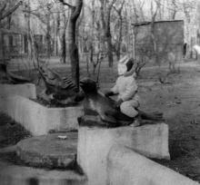 Одесса, ЦПКиО им. Т.Г. Шевченко, бассейн-плескательница в «детском секторе». 1966 г.