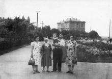 Одесса. На Суворовской аллее парка Шевченко. 1950-е гг.