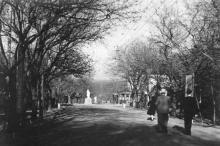 Одесса. Аллея из парка им. Шевченко на Ланжерон. 1950-е гг.
