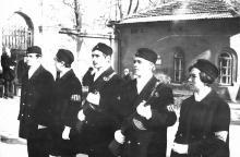 Возле штаба поста № 1 на бульваре Дзержинского. Одесса. Март, 1969 г.