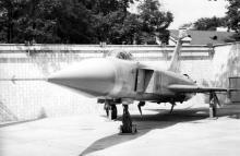 Самолет СУ-15 в музее Одесского военного округа. 1980-е гг.