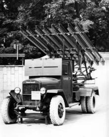 Площадка военной техники в музее Одесского военного округа. 1980-е гг.