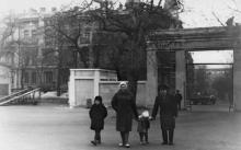 Одесса. Вход в ЦПКиО им. Шевченко со стороны парка. 1960-е гг.