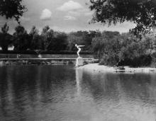 Одесса. В Дюковском парке. Фото П. Домбровского. 1943 г.