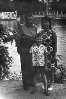 Одесса. У водоема в парке «Победа». 1960-е гг.