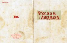 Обложка программки оперы Руслан и Людмила в Одесском театре оперы и балета. Сезон 1938–1939 гг.