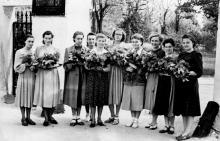 Одесса. У входа в ботанический сад. 1950-е гг.