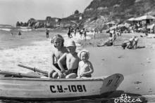 Одесса. Пляж на 12-й станции Большого Фонтана. 1953 г.