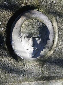 Скульптор Николай Блажков. Барельеф на памятнике, на могиле эсперантиста Сергея Григорьевича Рублёва