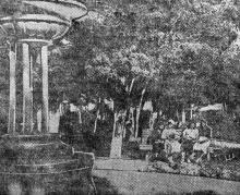 Сад консервщиков возле Чумки. Фото в газете «Чорноморська комуна». Одесса, 18 сентября 1935 г.