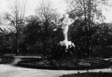 Памятник Сталину в санатории им. Чкалова. Одесса. Конец 1930-х гг.