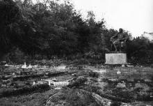 Памятник Сталину и панорама «Великие стройки коммунизма» на площади Советской Армии. Одесса. 1951 г.