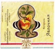 Фантик от карамели «Яблочная». Фабрика кондитерских изделий. Артель «Унитас», Одесса