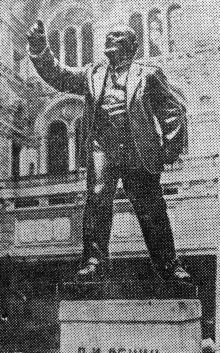 Памятник Ленину в зале Одесского главпочтамта. Фото в газете «Чорноморська комуна», 1935 г.