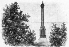Одесса. Александровская колонна в парке. Рисунок в журнале «Нива». 1894 г.