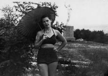 «Девушка c веслом» на Ланжероне. Одесса. 1956 г.