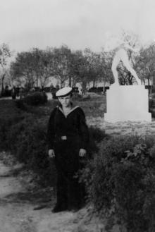 Одесса. Статуя «Теннисистка», скульптор М. Дельпес. 1950-е гг.
