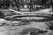Ремонт фонтана в Пале-Рояле. Одесса. 1980-е гг.