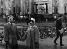Одесса. На Привокзальной площади, перед железнодорожным вокзалом. 1961 г.