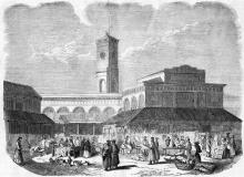 Одесса. Старый базар. Рисунок в газете «L'illustration». 1853 г.